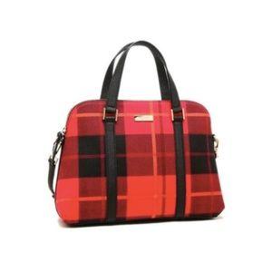Kate Spade Newbury Plaid Red Bag
